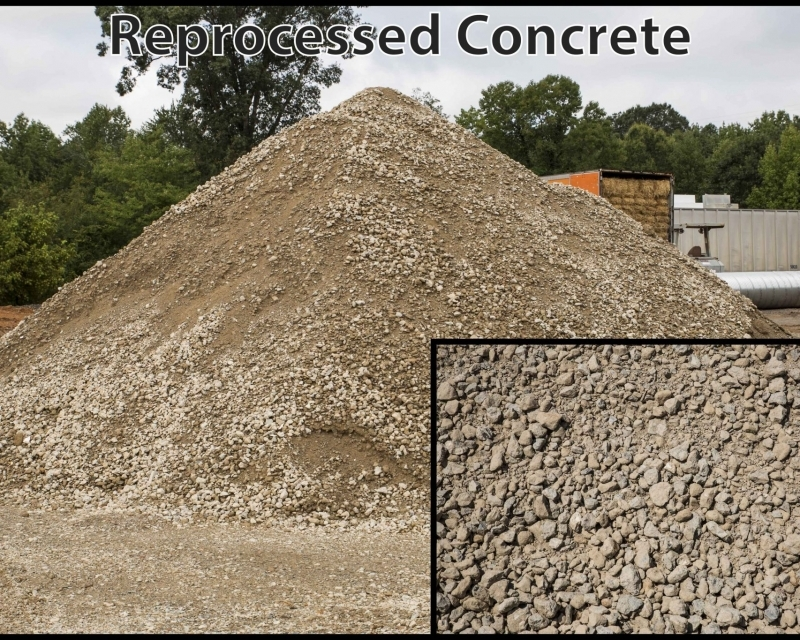 Reprocessed Concrete