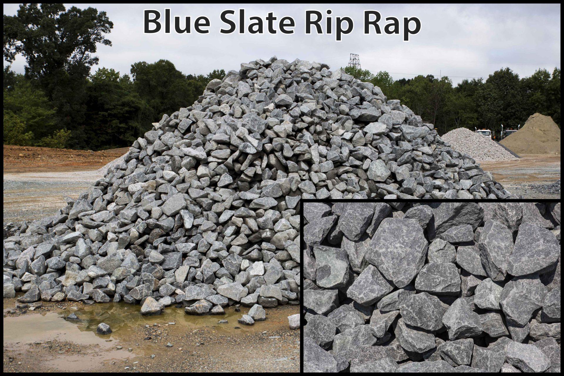 Blue Slate Rip Rap